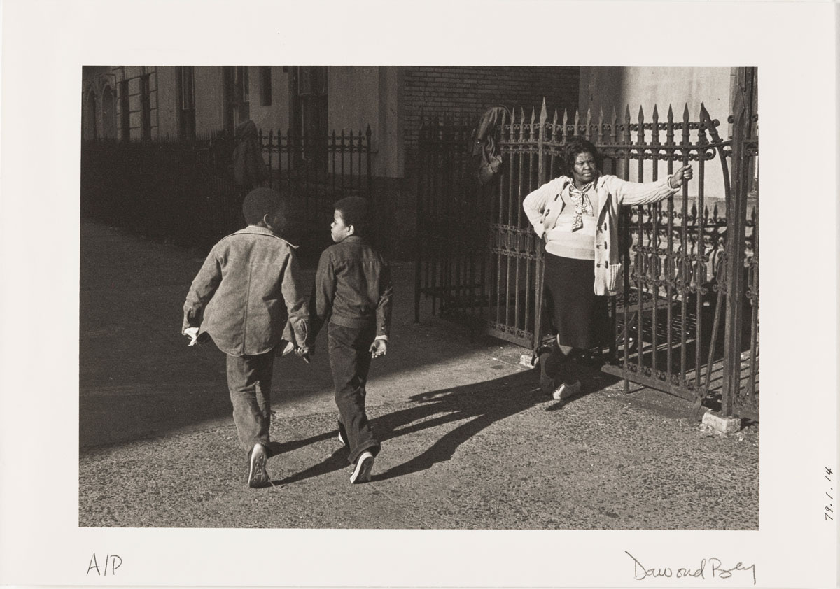 Dawoud Bey - A Woman and Two Boys Passing, 1978 from the