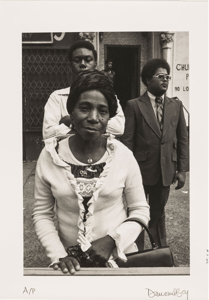 Dawoud Bey - A Woman at a Parade, 1978 from the